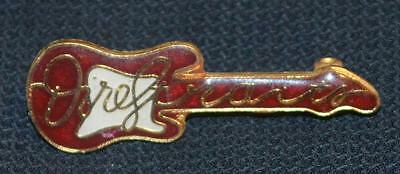 Dire Straits Red Guitar Metal Promo Pin Badge Pinback Rare USA Warner Bros.