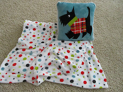 Adorable Scottie/ Scotty Dog Blanket Throw &  pillow set Very cute Scottie
