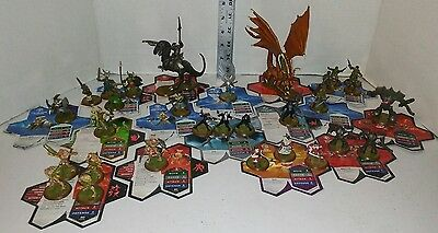 Heroscape Rise of Valkyrie 30 Figure Starter Set 2004 Hasbro Used With Cards