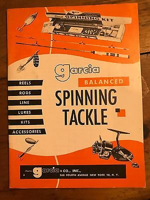 EARLY RARE CHARLES GARCIA FISHING PRODUCTS CATALOG REELS LINES LURES MINTY 1950s