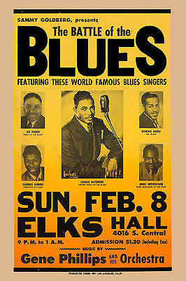 Big Joe Turner & Wynonie Harris in the Battle of the Blues Concert Poster 1948