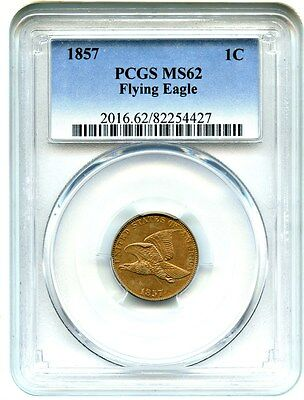 1857 Flying Eagle 1c PCGS MS62 - Popular First Year Type Coin
