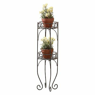 BULK LOTS Antique Style Two-Tier Metal Plant Stands