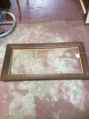Antique Edwardian Large Wooden Frame For Painting