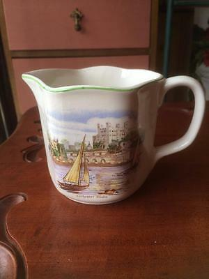 Vintage Bcm Nelson Ware Old English Castles Jug Rochester Castle Made In England