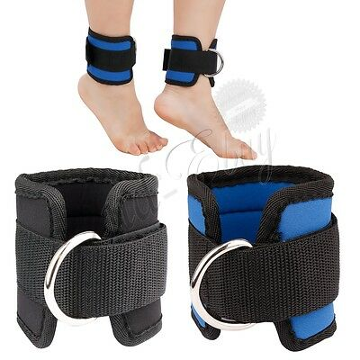 1 Pair D-ring Ankle Weights Leg Wrist Strap Running Gym Training Exercise Gym