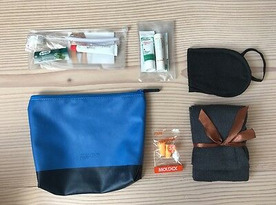 Lufthansa Business Class Jil Sander Navy Travel Amenity Kit Kulturbeutel NEU!