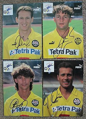 Bundle EINTRACHT FRANKFURT FC Hand SIGNED x4 6x4 PICTURE Card's Germany German