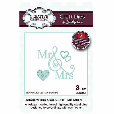 Craft Die CED9304 Sue Wilson Shadow Boxes Collection - Mr and Mrs
