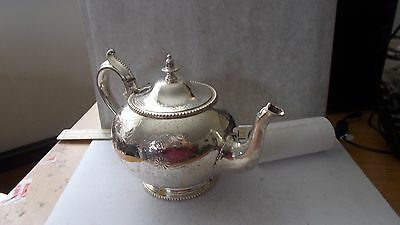 Good & Usable Victorian Silver Plated Teapot By W.f. Cross On A Globe. 5.  Vgc