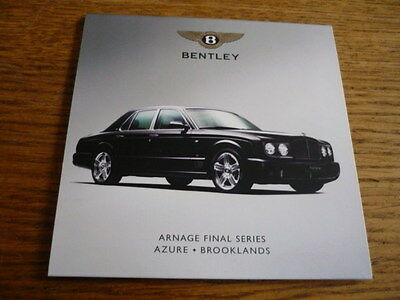 Bentley Arnage Final, Azure & Brooklands Press Kit/disc 2008