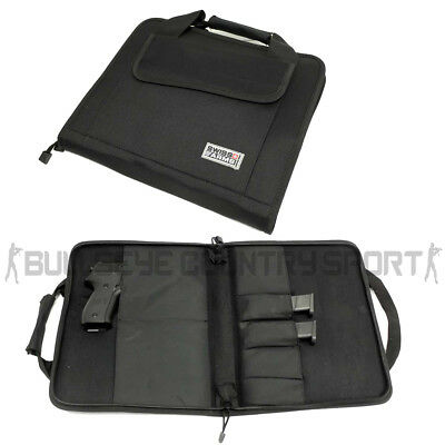 Swiss Arms Double Pistol Case Black Soft Padded Glock 1911 M9 Airsoft Army