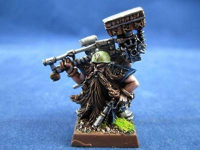 Warhammer painted master engineer with great weapon