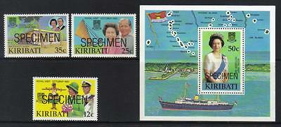 Kiribati 1982 Royal Visit Specimen U/m Set Of 3 & M/s