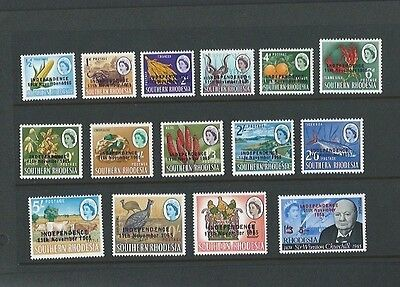 Rhodesia 1966 UMM opt Independence 11th November 1965 sg 359/73
