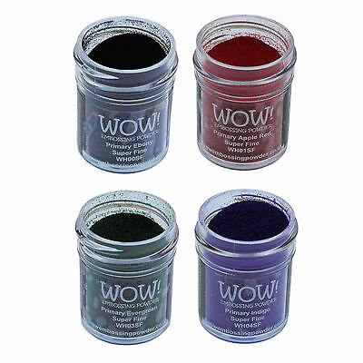 Wow! Embossing Powder 15ml - Super Fine Grade - Primary Colours