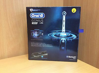 Braun  Oral-B GENIUS 9000 Black BLUETOOTH Electric Rechargeable Toothbrush *NEW*