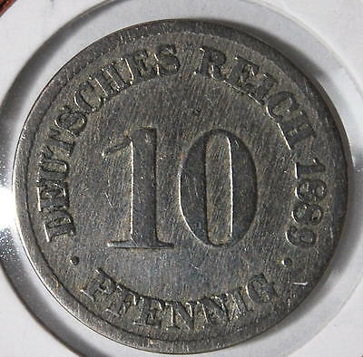 10 pfennig 1900 J copper nickel KM#4  GERMANY - EMPIRE - ALEMANIA