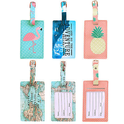 US Travel Baggage Tags Luggage Label Suitcase Bag For Round Name Office ID Label