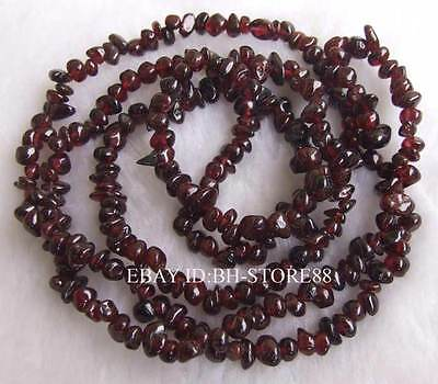 Natural 5-8mm Red Garnet Nugget Baroque Gemstone Beads 34''