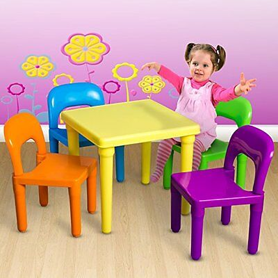 NEW Kids' Table Set with 4 Chairs