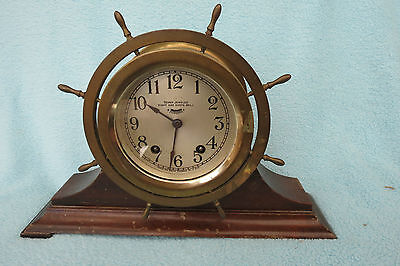 Antique Seth Thomas Striking Ship's Clock For Restoration
