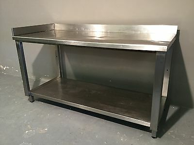Commercial Catering Stainless Steel Work Bench Prep Corner Table Unit