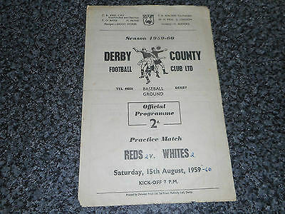 DERBY COUNTY  :  REDS  v  WHITES  1959/60  PRE-SEASON FRIENDLY ~ AUGUST 15th