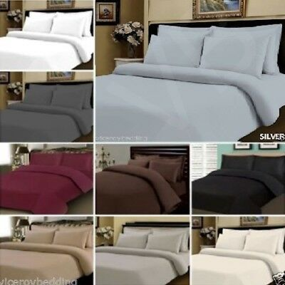500 Thread 100% Egyptian Cotton Fitted Sheet Bedding Set Single Double King