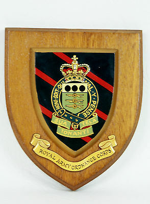Vintage Royal Army Ordnance Corps Wall Plaque / Shield