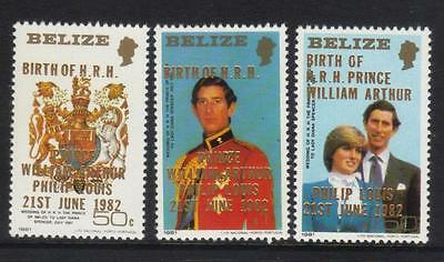 BELIZE 1982 BIRTH OF PRINCE WILLIAM (2nd ISSUE) SG714-716 U/M CAT £17+