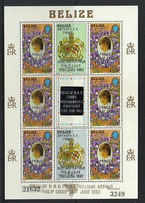 BELIZE 1982 BIRTH OF PRINCE WILLIAM (1st ISSUE) SG712 U/M S/S