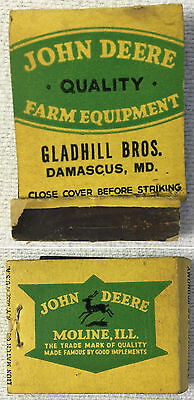 JOHN DEERE Tractor Feature Matchbook ~ Gladhill Bros, Damascus, Maryland