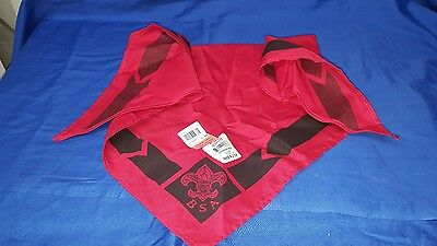 Boy Scouts of America red and black neckerchief NWT BSA