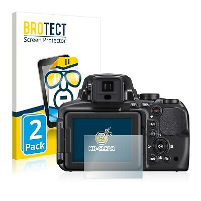 2x BROTECT Screen Protector for Nikon Coolpix P900 Protection Film