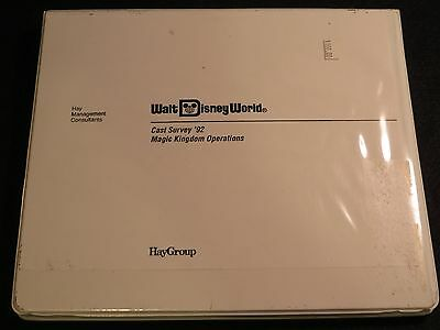 1992 Disney MAGIC KINGDOM EXECUTIVE MGMT Operations REPORT CAST MEMBER SURVEY