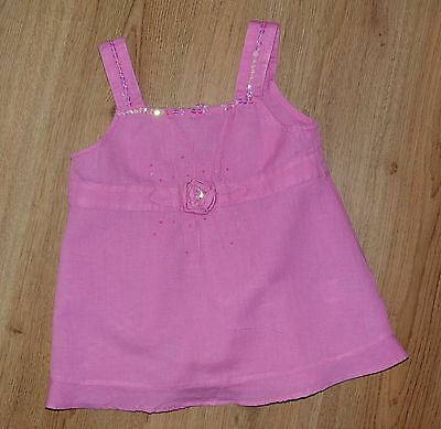 MONSOON - GIRLS - Pretty PINK COTTON SUMMER TOP - AGE 6-8 YEARS - L@@K