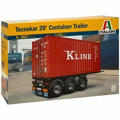 Italeri Model Kit - Tecnokar 20' Container Trailer - 1:24 Scale - 3887 - New
