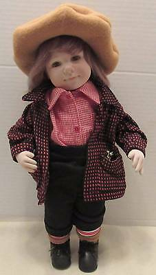 "Adorable Ooak Carole Bowling Cloth Boy Doll 16"" Niada Artist"