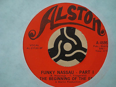 """The Beginning Of The End Funky Nassau 1971 US 45 7"""" Islands soul vinyl record"""