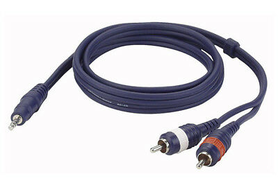 DAP AUDIO FL30 Mini Stereo Klinke 3,5mm > 2 RCA Cinch Chinch Kabel Adapter 1,5m