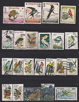 Birds lot of 71 stamps