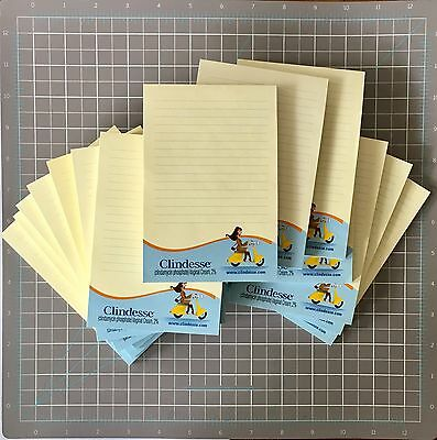 New 20 Sticky Note Pads 4x6 Post It Paper Drug rep Pharma Clindesse 1000 Sealed