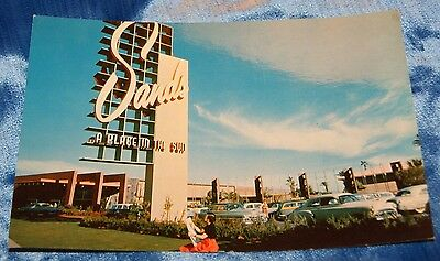 04- UNS Vintage Postcard Sands Hotel A place in the sun Las Vegas Nevada