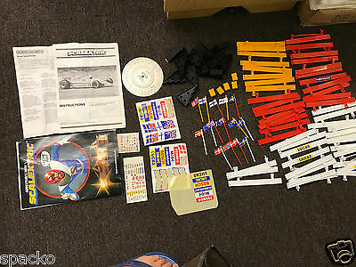 Scalextric Accessories Barriers Stickers Magazine Flags Hay Bail Lot