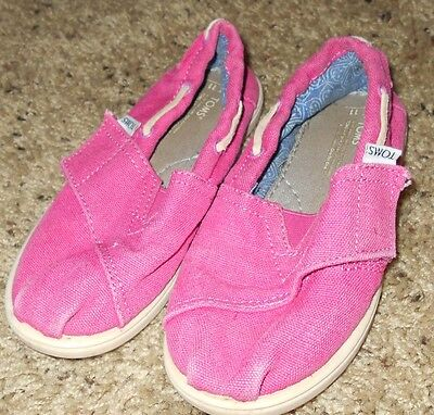 TOMS Little Girl's Pink Shoes Size 11