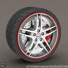 "RED Alloy Wheel Protector Rim Trim Strips 13"" to 22"" RIMBLADES CITROEN"