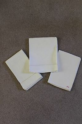 Bundle of 3 Vintage linen hand towels