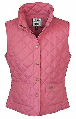 Bnwt;esher;ladies Quilted Gilet;raspberry;12