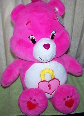 "Care Bears SECRET BEAR 20"" Care Bear LARGE Plush New"